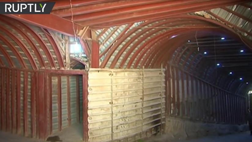 Una ciudad bajo la ciudad: Descubren en Duma enorme red de túneles usada por terroristas (VIDEO)