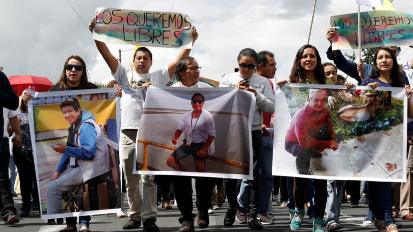 A un mes del secuestro de los periodistas ecuatorianos, los familiares exigen respuestas al Gobierno