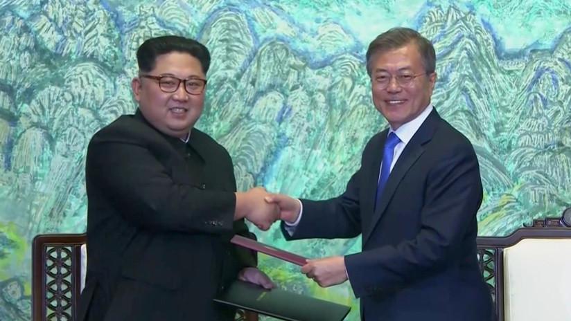 """""""Una nueva era de paz"""": Seúl y Pionyang acuerdan poner fin a las hostilidades (VIDEO)"""