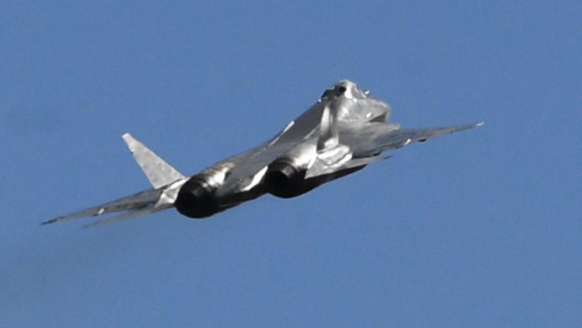 VIDEO: Logran filmar raras imágenes del aterrizaje del caza furtivo ruso Su-57