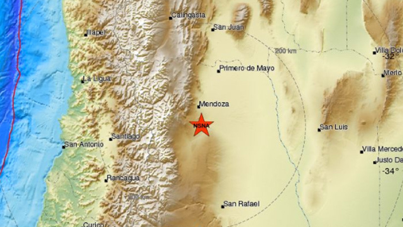 Un sismo de magnitud 4,6 se registra en Argentina