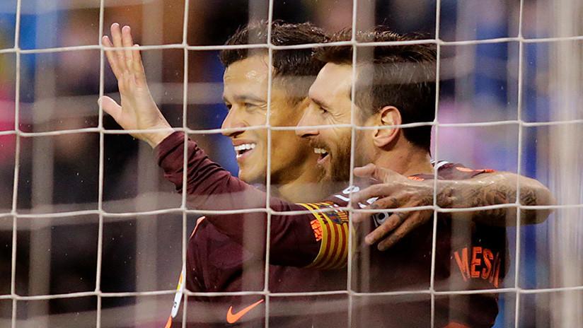 El invicto Barcelona derrota al Deportivo y se corona campeón de Liga