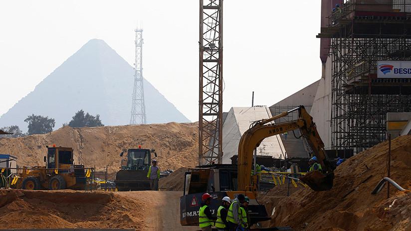Incendio en la construcción del Gran Museo Egipcio cerca de las pirámides de Giza (VIDEO)