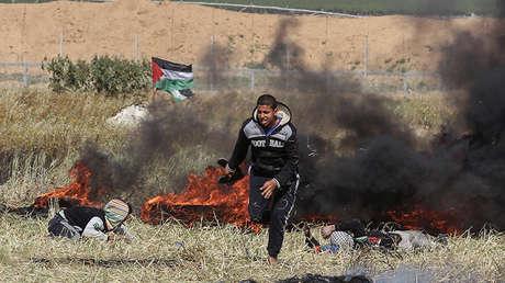 Enfrentamientos en la frontera entre la Franja de Gaza e Israel.