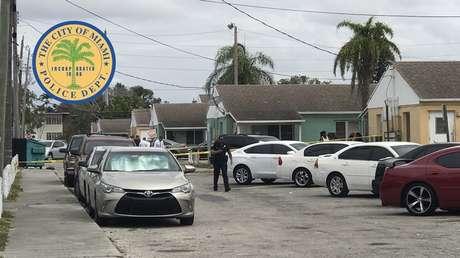 El vecindario Liberty Square de Miami, donde una niña de 4 años murió a consecuencia de un tiroteo el 31 de marzo de 2018.