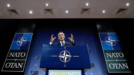 El secretario general de la OTAN, Jens Stoltenberg, en la sede de la Alianza en Bruselas (Bélgica), el 15 de marzo de 2018.