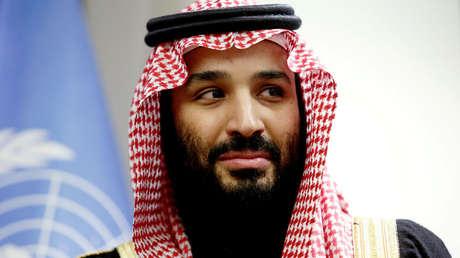 El príncipe heredero de Arabia Saudita, Mohammed bin Salmán, durante una reunión en la sede de las Naciones Unidas, Nueva York, EE.UU., el 27 de marzo de 2018.