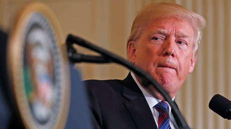 El presidente estadounidense, Donald Trump, durante una conferencia de prensa conjunta con líderes bálticos en la Casa Blanca en Washington, EE.UU., el 3 de abril de 2018.