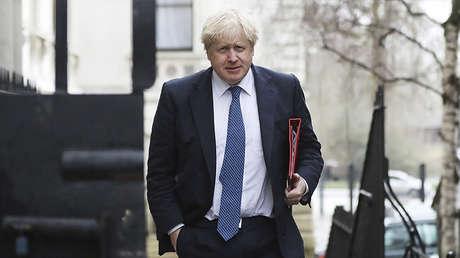 El ministro de Exteriores británico, Boris Johnson, acude a una reunión del Consejo de Seguridad Nacional en Londres, 12 de marzo de 2018