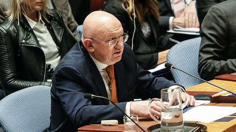 El representante permanente de Rusia ante la ONU, Vasili Nebenzia.