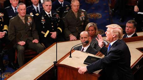 El discurso sobre el Estado de la Unión del presidente de EE.UU., Donald Trump, en una sesión conjunta del Congreso en Washington, EE.UU., el 30 de enero de 2018.