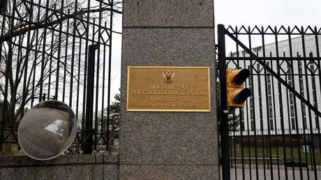 Embajada de Rusia en Washington, EE. UU., el 27 de marzo de 2018.