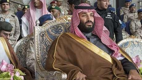 El príncipe heredero de Arabia Saudita, Mohamed bin Salmán, en Riad. Imagen difundida el 21 de febrero de 2018.