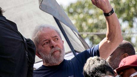 Lula en el sindicato de trabajadores metalúrgicos en Sao Bernardo do Campo, el 7 de abril de 2018.