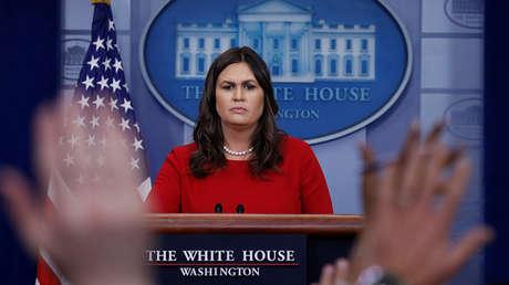 La secretaria de prensa de la Casa Blanca, Sarah Sanders.