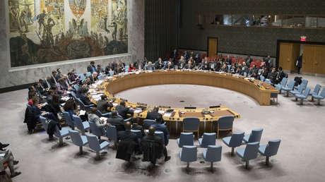 Reunión del Consejo de Seguridad de la ONU sobre la crisis entre Londres y Moscú, 5 de abril de 2018.