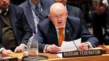 El representante permanente de Rusia en Naciones Unidas, Vasili Nebenzia.