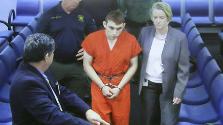 Nikolas Cruz comparece ante el tribunal por primera vez el 15 de febrero en la ciudad de Fort Lauderdale, Florida.