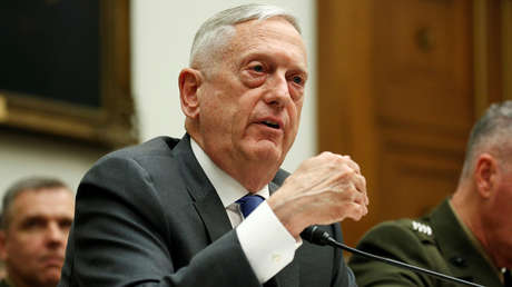 El Secretario de Defensa de los Estados Unidos, James Mattis en Capitol Hill, Washington, EE.UU., 12 de abril de 2018.
