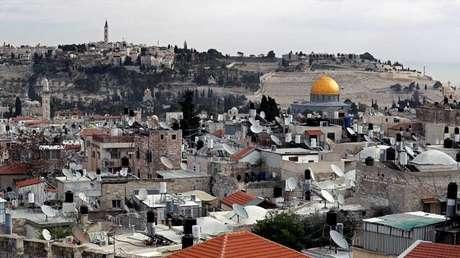 Vista parcial de la Ciudad Vieja de Jerusalén, el 19 de diciembre de 2017.