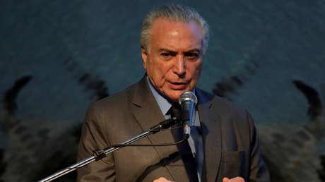 Presidente de Brasil, Michel Temer. 5 de abril de 2018.