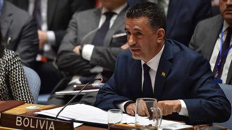 Sacha Llorenti, representante permanente de Bolivia ante la ONU