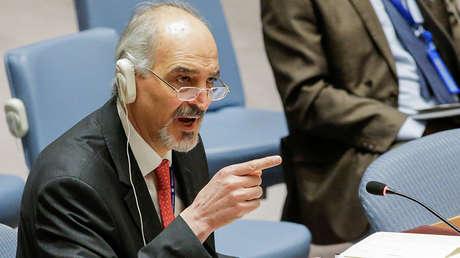 El representante de Siria ante la ONU, Bashar Jaafari.