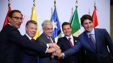 Algunos de los jefes de Estado y de Gobierno que participaron en la VIII Cumbre de las Américas. Lima 14 de abril de 2018.