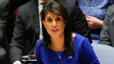 La representante permanente de Estados Unidos ante la ONU, Nikki Haley