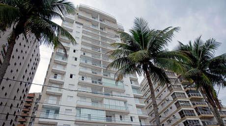 El edificio Solaris, donde está el tríplex de la constructora OAS atribuido a Lula da Silva, en Guarujá, San Pablo, el 10 de marzo de 2016.