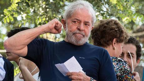 El expresidente de Brasil, Lula da Silva, Sao Bernardo do Campo, 7 de abril de 2018.