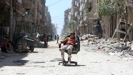 La ciudad de Duma, Siria, el 16 de abril de 2018.