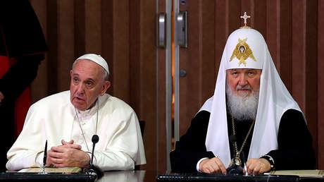 El papa Francisco y Kiril, el patriarca de toda Rusia, en La Habana, Cuba, el 12 de febrero de 2016.