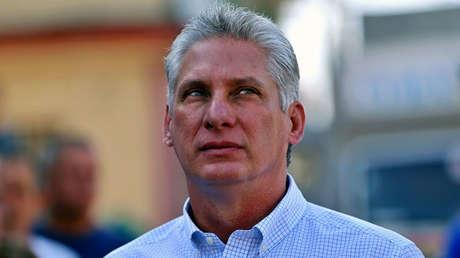 Díaz-Canel el día que ejerció su voto en Santa Clara, Cuba, 11 de marzo de 2018.