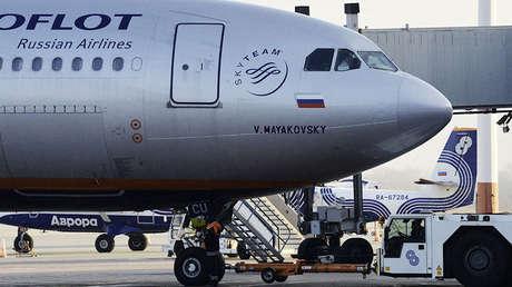 Avión Airbus A330 de la aerolínea Aeroflot