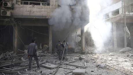 La ciudad siria de Duma, Guta Oriental, el 9 de febrero de 2018.