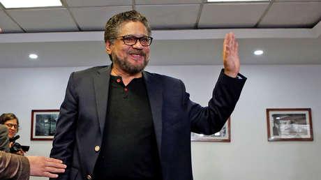 Iván Márquez, del partido político de las FARC, después de una conferencia de prensa en Bogotá. 10 de abril de 2018.