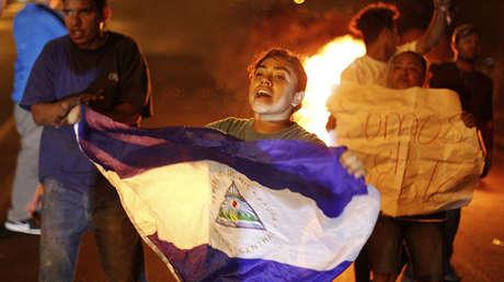 Protestas en la capital de Nicaragua, Managua.