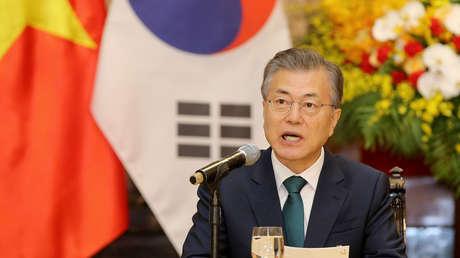 El presidente surcoreano, Moon Jae-in. Hanói, Vietnam, el 23 de marzo de 2018.