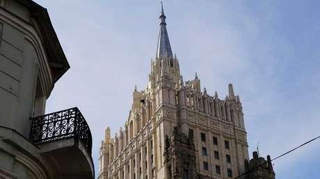 Edificio de la Cancillería rusa en Moscú.