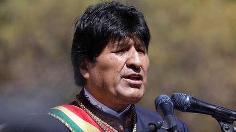 El presidente Evo Morales durante las conmemoraciones del Día del Mar en La Paz (Bolivia). 23 de marzo de 2018.