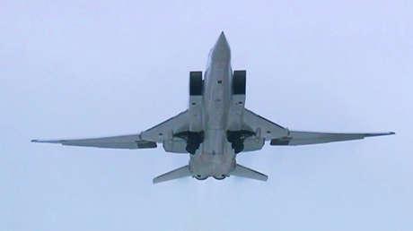 El bombardero supersónico Tu-22M3.