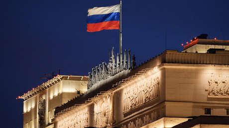 El edificio del Ministerio de Defensa de Rusia en Moscú.