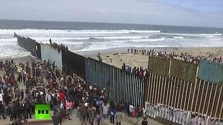 Concentración en la frontera, el 29 de abril de 2018