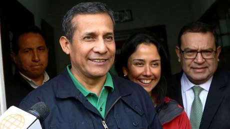 El ex presidente peruano Ollanta Humala y la ex primera dama Nadine Heredia. 13 de julio de 2017.