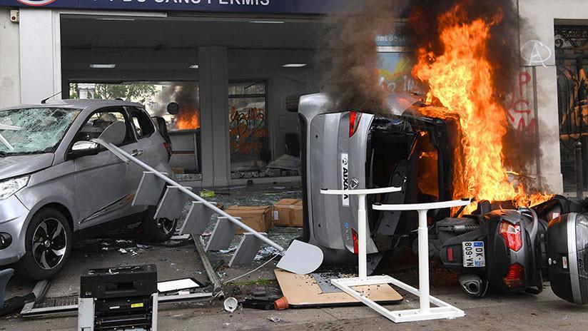 Choques entre Policía y manifestantes durante el Primero de Mayo en París