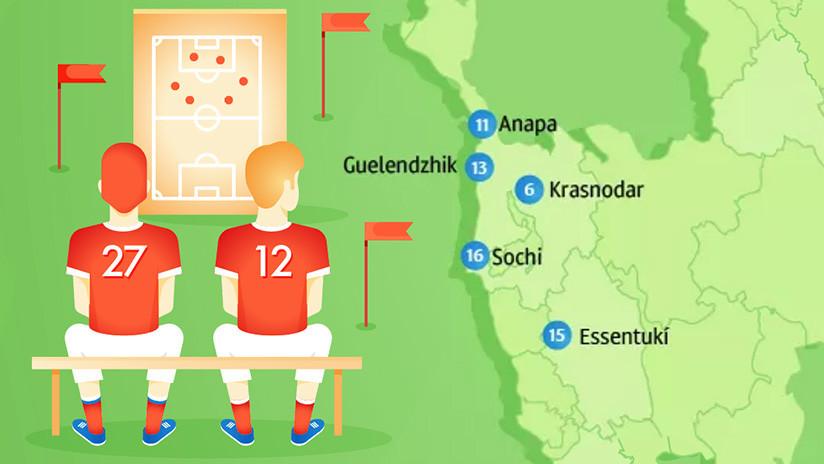 Infografía: ¿Dónde se concentrarán las selecciones durante el Mundial de Rusia?