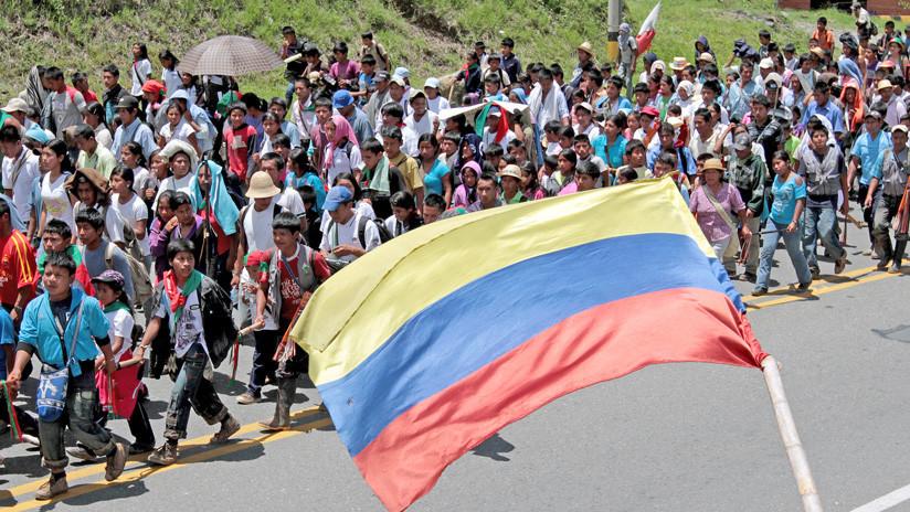 Indígenas colombianos denuncian violación de sus derechos humanos tras el acuerdo de paz