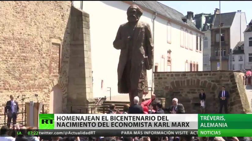 Homenajean a Marx en el bicentenario de su nacimiento