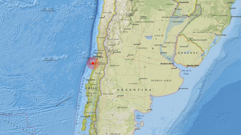 Un sismo de magnitud 5,1 se registra en la zona central de Chile